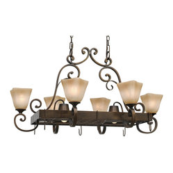 Meridian 8-Light Pot Rack