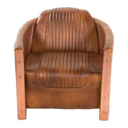 YOSEMITE HOME DECOR - Accent Chair - Copper and leather, a perfect combination. A truly unique and stunning chair guaranteed to catch anyone's eye. A genuine leather seat and back, totally surrounded by  genuine aged copper cladding, complete with a leather bolster pillow. Lacquered for durability, do not use abrasive or ammonia based cleaners. Assembled and Made in India .   Item Dimensions are 29inches Width X 37inches Depth X 17inches Height