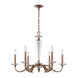 Crystorama Lighting Group - Crystorama Lighting Group 2236 Hugo 6 Light Candle Style Chandelier - Features: