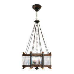 Fine Art Lamps - Eaton Place Pendant, 584440ST - Inspired by an Edwardian manor house, this stately pendant will add formal elegance to your favorite setting. The fixture features faceted channel-set crystals in a rustic iron frame with garnet undertones, descending from decorative chains.