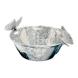 Arthur Court - Butterfly Nut Bowl - Oh no. Not another nutcase in your life. But wait, this one is charming, good-looking and totally low maintenance. You can use this delightful nut bowl at your next party, of course, but you can also employ it for almost any dry condiments or toppings on your table as well.