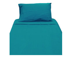 WestPoint Home LLC - Dark Turquoise Twin XL Sheet Set Extra Long Blue Bedding - Features: