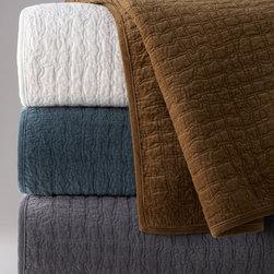 Network Velvet Bedding & Digital-Print Pillows -