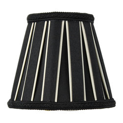 Home Concept - Black Eggshell Chandelier Clip-On Premium Lampshade 3x5x4.5 - Celebrate Your Home - Home Concept invites you to welcome your guests with our array of lampshade styles that will instantly upgrade your space