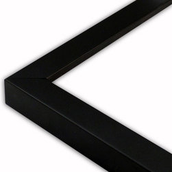 The Frame Guys - Narrow Satin Black Picture Frame-Solid Wood, 10x10 - *Narrow Satin Black Picture Frame-Solid Wood, 10x10