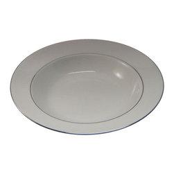 Wedgwood - Wedgwood Signet Platinum  Rim Soup Bowl - Wedgwood Signet Platinum  Rim Soup Bowl