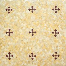 Mediterranean Wall And Floor Tile by Gnosis -custom mosaics-