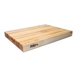 John Boos Maple Cutting Board - John Boos 24 x 18 x 2-1/4 reversible maple cutting board with grips.