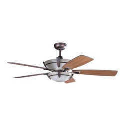 Designers Choice Collection - Indoor Ceiling Fans: Designers Choice Collection Calavera 52 in. Oil Brushed Bro - Shop for Lighting & Fans at The Home Depot. The richly appointed accents of the Designers Choice Collection CALAVERA 52 in. Ceiling Fan enrich your living space with warm but modern style. A Caspian glass bowl style light kit with matching glass motor housing and Moonglow Uplighting complete the ensemble. A full-function Remote Control with a wall mounted transmitter, independent Up & Down light dimmers, 3 speeds, and Reverse is also included.