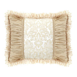 Dian Austin Couture Home Standard Sham with Crushed Silk Sides & Ribbon Loop Fri