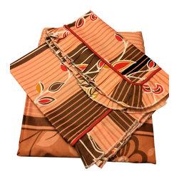 raziascloset - Peru Branch - 100% Cotton Flat Bedsheet - Queen - 100% Cotton Flat Bedsheet set with 2 sided frills and 2 Pillow cases with 4 sided frills, Queen size