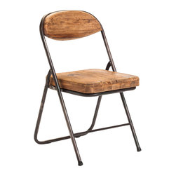 Moe's Home Collection - Moe's Home Tivoli Dining Chair in Natural Pine (Set of 2) - Folding dining chair.