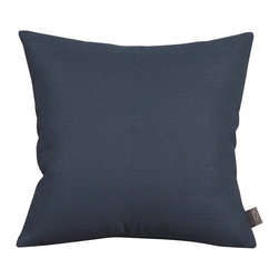 Howard Elliott - Sterling Indigo 16 x 16 Pillows - Change up color themes or add pop to a simple sofa or bedding display by piling up the pillows in a multitude of colors, textures and patterns. This Sterling Pillow features a linen-like texture in a soothing indigo color.