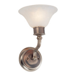 z lite - Burnished Nickel And Chocolate Wall Sconce With Pearl Veined White Glass - Condition: New - in box