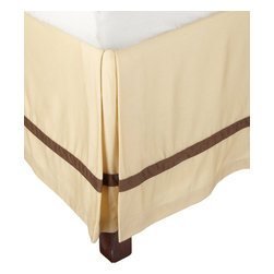 """Hotel Collection 300 Thread Count Cotton Honey/Mocha Queen Bed Skirt - A hotel luxury way to decorate your bedroom with a 300 Thread Count Bed Skirt. The perfect complement to a guest bedroom or master suite! These 300 thread count bed skirts of premium long-staple cotton are """"sateen"""" because they are woven to display a lustrous sheen that resembles satin. Coordinate with our Hotel Collection Duvet Cover Sets and Bed-skirts! Dimensions: 60x80."""