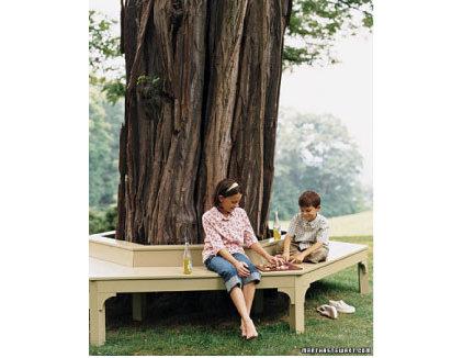Modern  tree seating