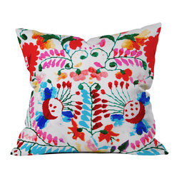 DENY Designs - Deb Haugen Mexican Surf Trip Outdoor Throw Pillow - Do you hear that noise? it's your outdoor area begging for a facelift and what better way to turn up the chic than with our outdoor throw pillow collection? Made from water and mildew proof woven polyester, our indoor/outdoor throw pillow is the perfect way to add some vibrance and character to your boring outdoor furniture while giving the rain a run for its money. Custom printed in the USA for every order.