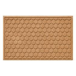 Bungalow Flooring - Aqua Shield 2'x3' Honeycomb Doormat, Medium Brown - Premium 24-oz. anti-static polypropylene mat traps dirt, water and mud.