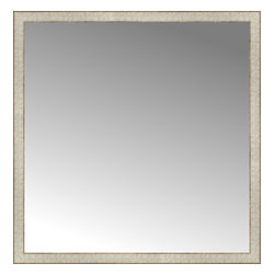 """Posters 2 Prints, LLC - 43"""" x 44"""" Libretto Antique Silver Custom Framed Mirror - 43"""" x 44"""" Custom Framed Mirror made by Posters 2 Prints. Standard glass with unrivaled selection of crafted mirror frames.  Protected with category II safety backing to keep glass fragments together should the mirror be accidentally broken.  Safe arrival guaranteed.  Made in the United States of America"""