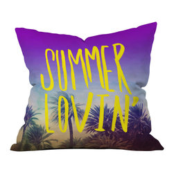DENY Designs - Leah Flores Summer Lovin Outdoor Throw Pillow - Do you hear that noise? it's your outdoor area begging for a facelift and what better way to turn up the chic than with our outdoor throw pillow collection? Made from water and mildew proof woven polyester, our indoor/outdoor throw pillow is the perfect way to add some vibrance and character to your boring outdoor furniture while giving the rain a run for its money. Custom printed in the USA for every order.