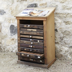 Typography Chest - This vintage chest has lots of little drawers that little hands would love exploring. I'd use it as a craft/toy chest and put puzzle pieces, crayons, stickers and little activity games inside.
