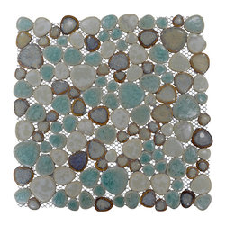 "Home Elements - Porcelain Pebble Tile, 4""x4"" Sample - Product Description:"