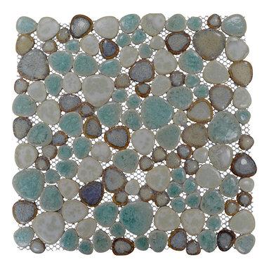 """Home Elements - Porcelain Pebble Tile, 4""""x4"""" Sample - Product Description:"""