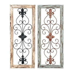 """BZBZ50228 - Wall Panel Assorted in Abstract Design - Set of 2 - Wall Panel Assorted in Abstract Design - Set of 2. This modern wood and metallic wall art is a lovely gift to be given to your near and dear one. It comes with the following dimensions: 12"""" W x 1"""" D x 30"""" H. 12"""" W x 1"""" D x 30"""" H."""
