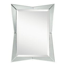 Kichler Lighting - Kichler Lighting Glance Transitional Rectangular Mirror X-40287 - A bright composition, this angular mirror features a Beveled Mirror frame to create an angular and distinctive silhouette that will enhance any space.