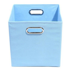 Sky Solid Baby Blue Folding Storage Bin