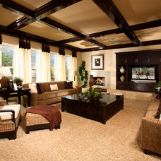 Tropical Living Room by Anthony Perrotta Design