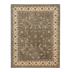 """Nourison - Nourison Nourison 2000 2003 (Olive) 8'6"""" x 11'6"""" Rug - Nourison's most popular hand-made signature collection features Persian and European designs of pure New Zealand wool, highlighted with intricately detailed designs of genuine pure silk. Offered in a wide assortment of shape and size options, including elegant rounds, high fashion ovals and rectangles - all, of course, in addition to a full assortment of standard room sizes and runners. Specially developed hand tufting techniques create a high-density pile that redefines luxury, beauty and value for handmade carpets."""