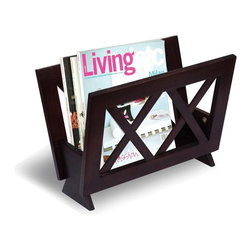 Coaster - Cappuccino Transitional Magazine Rack - Stylish magazine rack.