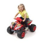 Fun Wheels - Fun Wheels Step-2 Max Quad Battery Powered Riding Toy - Red - 03RS2 - Shop for Tricycles and Riding Toys from Hayneedle.com! Any little kid is lucky to have his own set of wheels. The Fun Wheels Step-2 Max Quad Battery Powered Riding Toy Red is a great first step. This rechargeable vehicle is loaded with features pedal acceleration working headlights and a horn. Powered by a rechargeable 6-volt battery. Playtime: 1-2 hours.