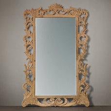 Rococo Leaner Mirror Natural | Wood | Restoration Hardware