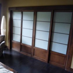 Portlandshojiscreen - This is one of 5 closets covered in Shoji in a home on Lake Oswego, near Portland OR.