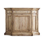 Hooker Furniture - Hooker Furniture Wakefield Three-Drawer Buffet with Hutch in Taupe - Hooker Furniture - Buffet Tables and Sideboards - 50047590075905KIT