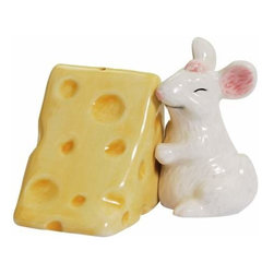 WL - Mouse Hugging Cheese Salt and Pepper Shakers - This gorgeous 2.75 Inch Mouse Hugging Cheese Decorated Salt and Pepper Shakers has the finest details and highest quality you will find anywhere! 2.75 Inch Mouse Hugging Cheese Decorated Salt and Pepper Shakers is truly remarkable.