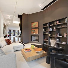 Modern Family Room by AQ Interior Design