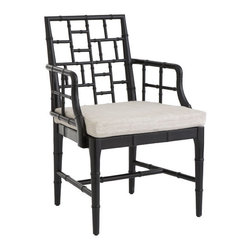Chinese Chippendale Chair, Obsidian Black - I love this take on a classic Chippendale chair, and the color just gives it a little extra spunk. I'd love these as host and hostess chairs at a dining table, flanking a console table, or as a sassy desk chair.
