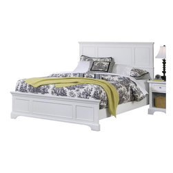 Home Styles - Home Styles Naples Queen Panel Bed in White Finish - Home Styles - Beds - 5530500 - The Naples Panel Bed has solid hardwood and engineered wood construction in a rich multi-step white finish. Available in Queen size this panel bed features raised panels on the headboard and footboard. Distinctly contemporary in style the Naples Panel Bed is the ideal central fixture in your bedroom.