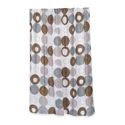 Carnation Home Fashions, Inc. - Home Fashions Madison Shower Curtain - Dress up your bathroom with the Home Fashions Madison fabric shower curtain. Featuring a whimsical, polka-dotted pattern, this extra long shower curtain is perfect for hard-to-fit shower enclosures.