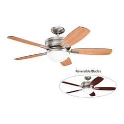 "Kichler - Kichler 300138AP 52"" Indoor Ceiling Fan 5 Blades - Remote, Light Kit and - Kichler 300138 Carlson Ceiling Fan"