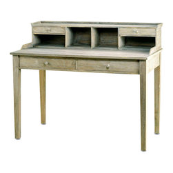 Meacham Desk - With a Distressed Truffle finish over washed wood, the Meacham desk is a simply wonderful piece to place in a spare bedroom or library. Ample storage space for all of your office supplies make this desk an ideal addition to your home with its versatile yet classic look.