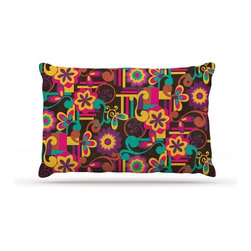 """Kess InHouse - Louise Machado """"Arabesque Floral"""" Bright Colorful Fleece Dog Bed (18"""" x 28"""") - Pets deserve to be as comfortable as their humans! These dog beds not only give your pet the utmost comfort with their fleece cozy top but they match your house and decor! Kess Inhouse gives your pet some style by adding vivaciously artistic work onto their favorite place to lay, their bed! What's the best part? These are totally machine washable, just unzip the cover and throw it in the washing machine!"""