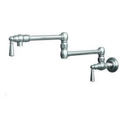 Newport_Brass - Newport Brass 2470-5503/01 Pot Filler - Wall Mount - Forever Brass PVD - Jacobean Collection
