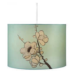 Sakura in Bloom Pendant Lamp - This hanging pendant lamp is perfect for any task area, like your kitchen counter or dining space. It's beautifully illustrated with a sakura design, the cherry blossom that traditionally represents the arrival of spring. Welcome beauty into your home whenever it illuminates your favorite space.