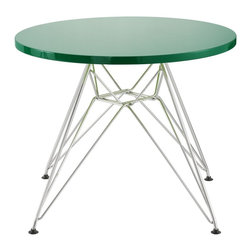 Zuo Modern - Zuo Modern Wacky Modern Kids Table X-591501 - Include the Wacky children's table in every home today. with a MDF top and a chrome steel base, the Wacky table provides every child a place for reading, writing, and creating dreams.