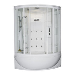 Ariel Bath - Ariel ZAA212 Steam Shower Whirlpool Bathtub - These fully loaded steam showers include a whirlpool bathtub, massage jets, and built in FM Radio for Easy Listening s to help increase your therapeutic experience.