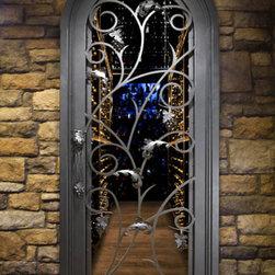Single Iron Doors -
